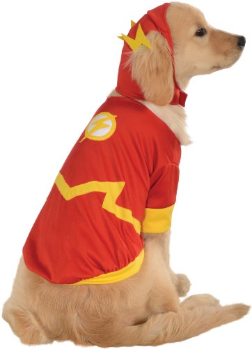 [DC Comics Pet Costume, Small, Flash] (Pomeranian Costume)