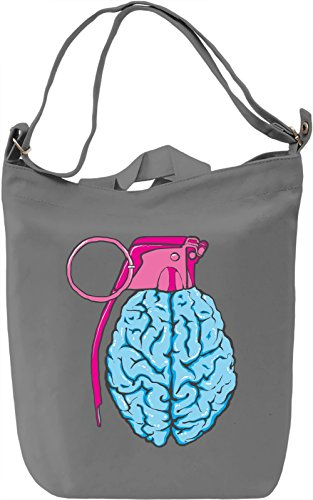Brain grenade Borsa Giornaliera Canvas Canvas Day Bag| 100% Premium Cotton Canvas| DTG Printing|