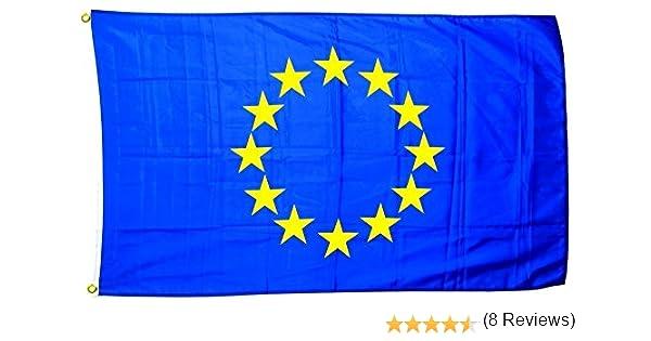 Bandera de Europa en gran formato 250 x 150 cm, resistente a la ...