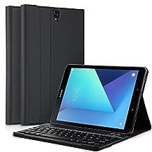 Samsung Galaxy Tab S3 9.7 Keyboard case, KuGi ® Kugi Samsung Galaxy Tab S3 9.7 -High quality Ultra-thin Detachable Bluetooth Keyboard Stand Portfolio Case / Cover for Samsung Galaxy Tab S3 9.7 tablet(Black)
