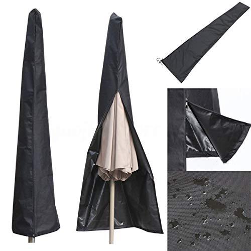 ALLOMN Outdoor Patio Umbrella Cover, Waterproof and UV Protection Fabric Parasol Cover for 9-11 Feet Garden Yard Balcony Umbrellas (With Zipper Patio Covers Umbrella)
