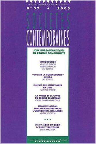Livres Sociétés contemporaines, N° 57 - 2005 : Jeux bureaucratiques en régime communiste pdf, epub
