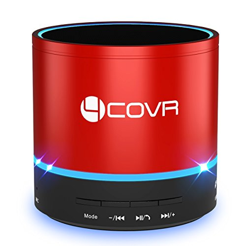 Bluetooth Speaker, Forcovr Portable Wireless Mini Speakers Stereo Outdoor Speakers with HD Sound and Bass, Handsfree Call, Built-in Dual Driver Speakerphone for iPhone, Samsung, Laptops, Red (Iphone El Ultimo)