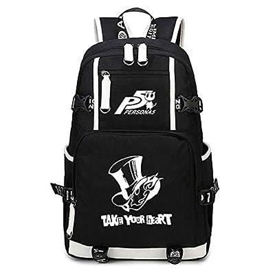 Gumstyle Persona Game Luminous School Bag Backpack Shoulder Laptop Bags for Boys Girls Students Black 1 | Kids' Backpacks