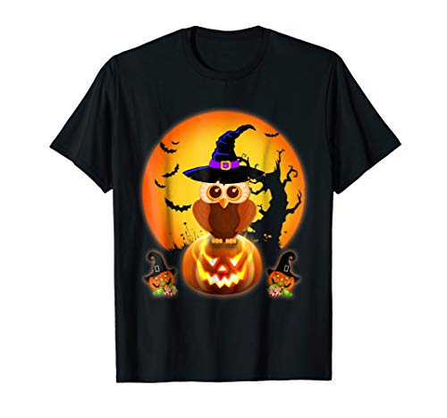Owl Halloween Night Kids Gifts T-Shirt Owl
