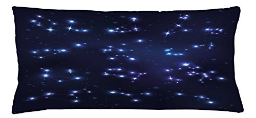 Ambesonne Constellation Throw Pillow Cushion Cover, Realistic