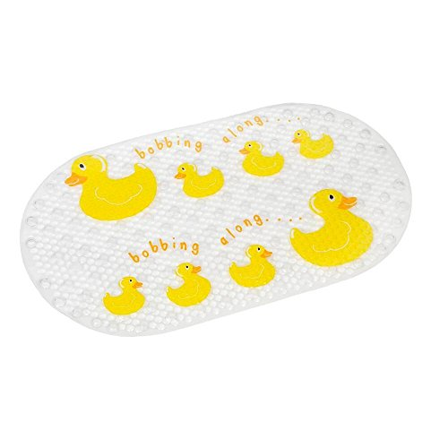 g Clear Slip-Resistant Bath Mat, 27.4 x 15.4 In. ()