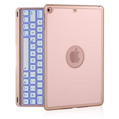 iPad Keyboard Case for iPad 9.7 2018 (6th Gen) - iPad 9.7 2017 (5th Gen) - iPad Air 1 with 7 Color Backlit, Auto Sleep/Wake, Aluminum Hard Shell, iPad Case with Keyboard 9.7 inch(NOT for iPad Pro 9.7)