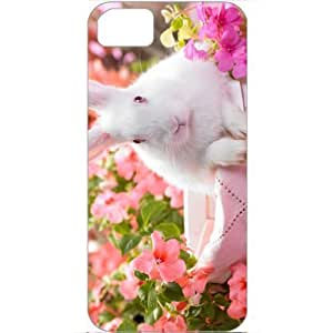 DIY Apple iPhone 5S Case Customized Gifts Personalized With Animals springtime hare Animals Birds Cute Animals...