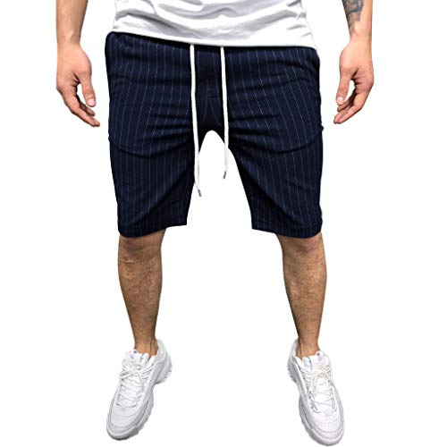 (Simayixx Sport Clothes Hawaii Beach Men's Active Athletic Performance Shorts with Pockets Short Pants Plus Size Trousers Navy)