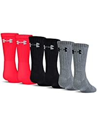Youth Charged Cotton 2.0 Crew Socks, 6-Pairs