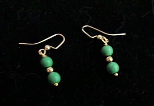 (Earrings that Say Southwestern Feature Mohave Green Turquoise from Kingman)