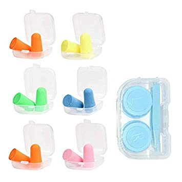 Sleeping Earplugs NRR 36dB Atecy Ear Plugs Black Green 2 Pairs Comfortable Hearing Protection for Travel.