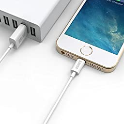 [Apple MFi Certified] [2-Pack] Anker 3ft / 0.9m Premium Lightning to USB Cable with Ultra Compact Connector Head for iPhone, iPod and iPad (White)