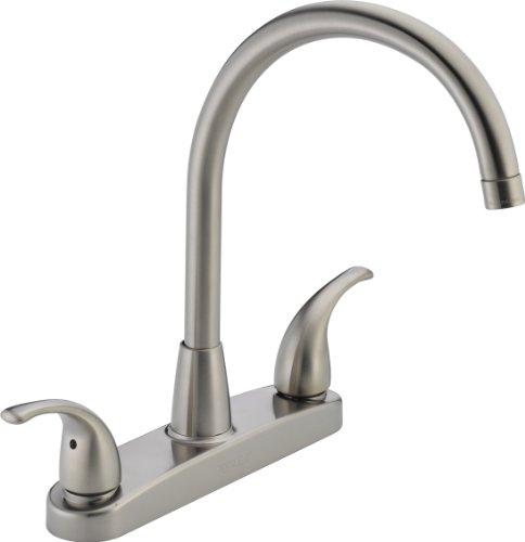 Peerless P299568LF-SS Choice, Two Handle Kitchen Faucet, (Ss Two Handle Kitchen)