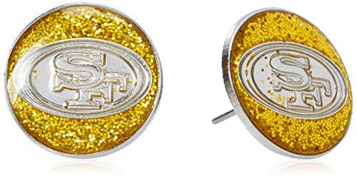 (NFL San Francisco 49ers Glitter Post Earrings)