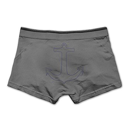 Htouch Sailor Anchor Men's Low-Rise Comfort Soft Underwear Boxer Brief - 2s Chicago