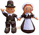 Air Blown Inflatable 4' Thanksgiving Pilgrim Boy and Girl Yard Decoration