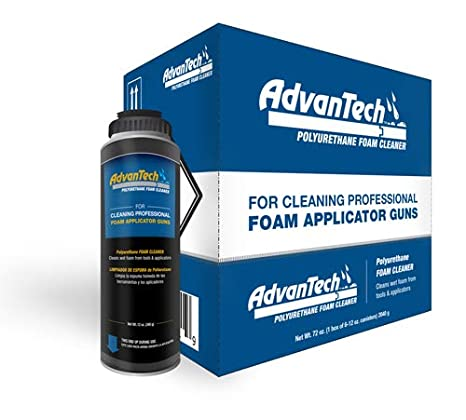 AdvanTech Subfloor Adhesive Dispensing Gun Cleaner | Polyurethane Cleaner | J.M. Huber | Includes (6) 12 oz. cans - - Amazon.com