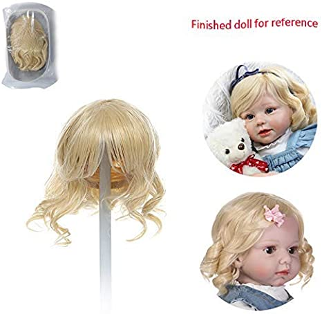 "6-6 1//2"" Full Cap Baby// Toddler Or Child Ash Blonde English Mohair Doll Wig"