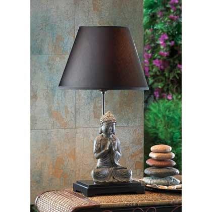 BUDDHA TABLE LAMP WITH HEMP ()