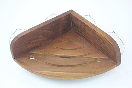 The Original Kai Corner Teak Shower Shelf by AquaTeak (Image #7)