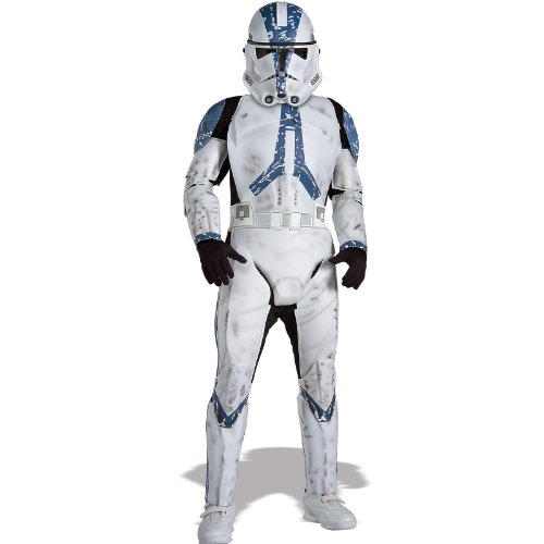 Rubie's Star Wars Classic Child's Deluxe Clone Trooper Costume and Mask, (Star Wars Clone Trooper Deluxe Child Costumes)