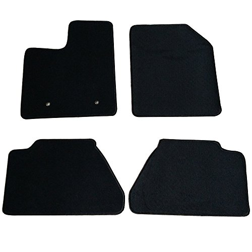 Floor Mats Fits 2007-2013 FORD EDGE | Nylon Black Front Rear Carpet by IKON MOTORSPORTS | 2008 2009 2010 2011 ()