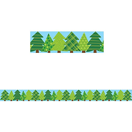 Creative Teaching Press Woodland Friends Patterned Pine Trees Border (8386)