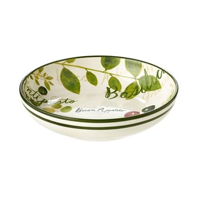 BUON Appetito Italian Inspired Earthenware Pasta Bowls - Set of 2 ...