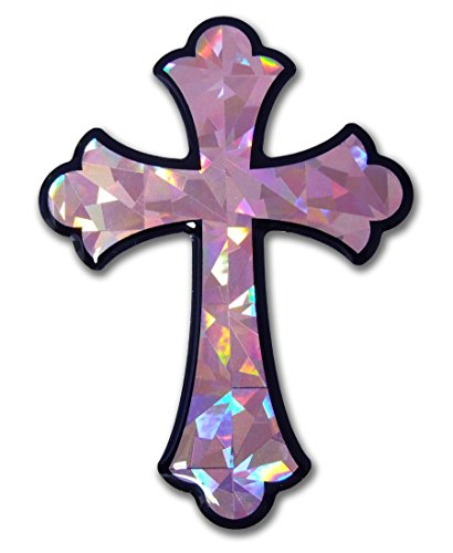 Elektroplate Christian Decal (Pink Cross)