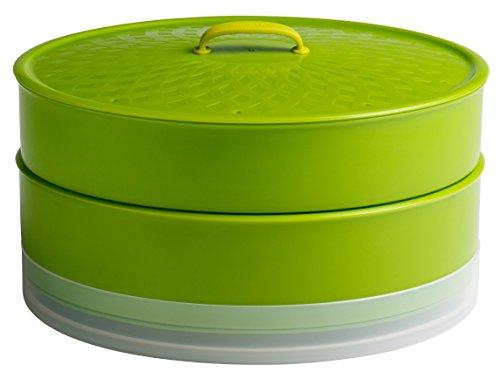 Chef'n SteamSum Stackable Stovetop Wok or Microwave Steamer (10-Inch, Green)