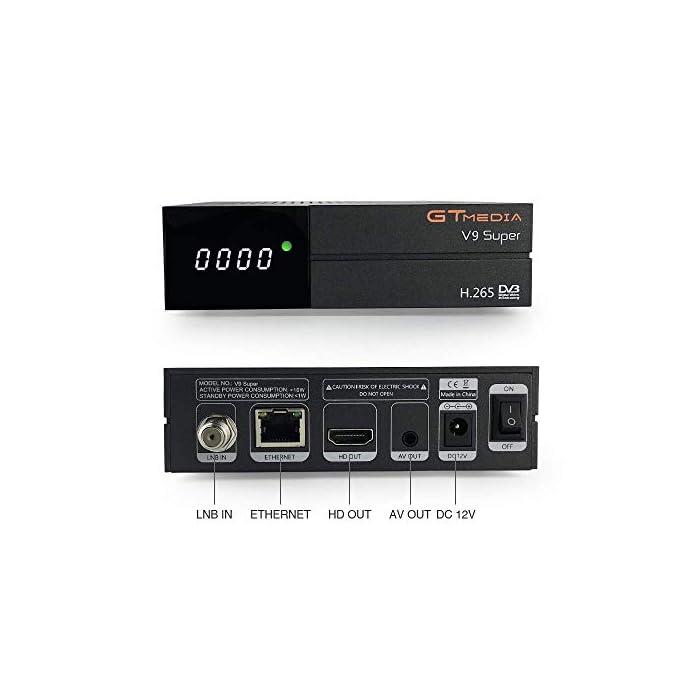 """41bf4cfN5jL Haz clic aquí para comprobar si este producto es compatible con tu modelo 【Wi-Fi incorporado】 """"GTMEDIA V9 Super DVB S2 Decodificador satelital"""" tiene un Wi-Fi incorporado, por lo que no es necesario comprar un Wi-Fi externo. Soporte completo PowerVu, DRE y Biss clave, Soporte Unicable, Soporte XML EPG y Satellite EPG. Receptor HD PVR con WiFi Incorporado. admite de red Sharing y protocolo de Twin. disfruta de tus películas con Network Sharing. apoyo Predicción meteorológica, Google Map, jamendo, Yahoo News, imagen etc. Support, cámara IP, DLNA, SAT to IP."""