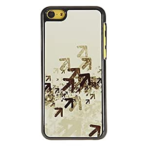 SHOUJIKE Multiple Arrows Pattern PC Hard Case with 3 Packed HD Screen Protectors for iPhone 5C