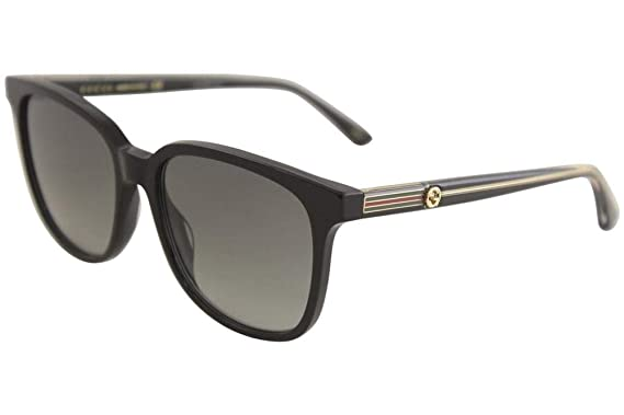 02c6224152 Image Unavailable. Image not available for. Color  Gucci GG 0376S 001 Black  Plastic Square Sunglasses Grey Gradient Lens