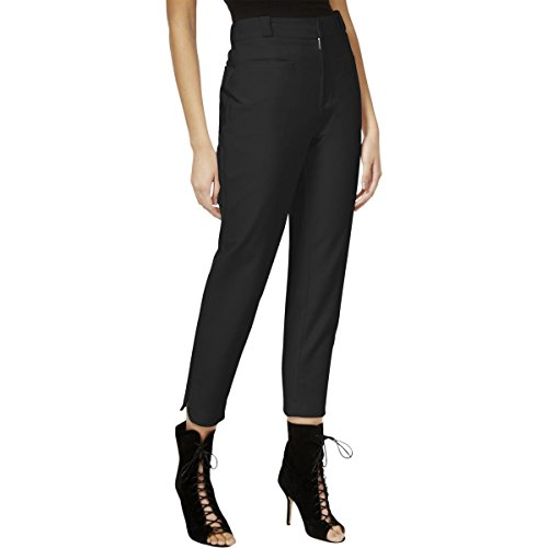 Rachel Rachel Roy Womens Cropped Flat Front Casual Pants Black 2 (Front Flat Pants Cropped)