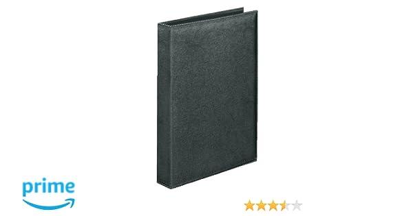 Veloflex Exquisit - Archivador de 4 anillas (A4, imitación piel), color negro: Amazon.es: Oficina y papelería