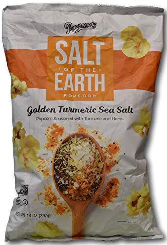 Popcornopolis Salt of The Earth Golden Turmeric & Sea Salt Popcorn (14oz Big Bag) ()