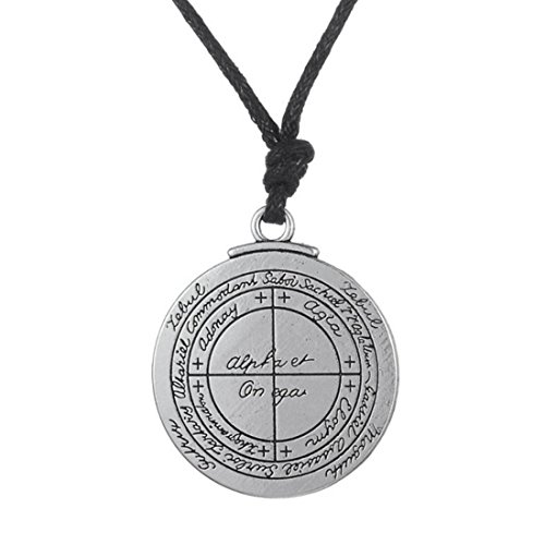 Good Luck talisman, Key of Solomon, Seal of Jupiter, Leather Necklace