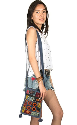 Purse Messenger Shoulder Satchel Cellphone Crossbody Ipad Mirror Colorful Patchwork Hobo Small Floral Organizer Bag tHqwSCdY