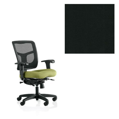 Office Master YS74-KR-25-1200 Yes Series Mesh Back Multi Adjustable Ergonomic Office Chair with KR-25 Armrests - Grade 1 Fabric - Celestial Oberon Black