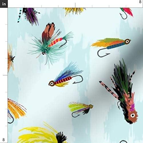 Fat Quarter 100/% Cotton Fish Fishing Lures Fabric Material FQ Bass Fishermen