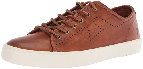 FRYE Men's Brett Perf Log Low Tennis Shoe Cognac 8.5 Medium US