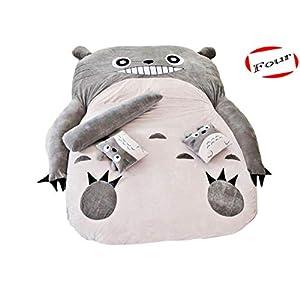 LYM Totoro Sleeping Bag Sofa Bed Double Foam Beanbag Cartoon Mattress Cushion (3.94(ft) 5.9(ft))