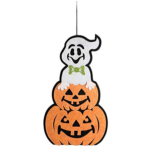 YESIDO Indoor and Outdoor Foam Halloween Hanging Door Decorations Pumpkin Door Wall Decoration Ghost Festival Home Decoration Party Holiday Supplies for Home, School, Office-(19.9