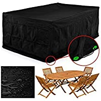 FEMOR Rectangular Patio Furniture Covers,Table Chair Set Cover Protector Outdoor Garden,Durable and Water Resistant Fabric