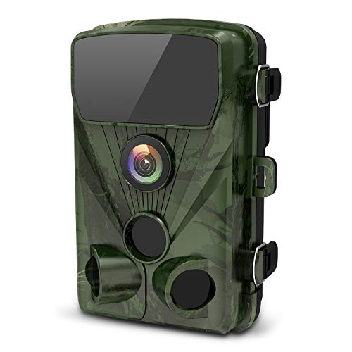 LETSCOM 14MP Trail Game Camera 0.4s Trigger Speed, Waterproof HD Wildlife Scouting Cam 42 Low-Glow IR LEDs, 120° Wide Angle for Hunting and Outdoor Surveillance (Green) ()