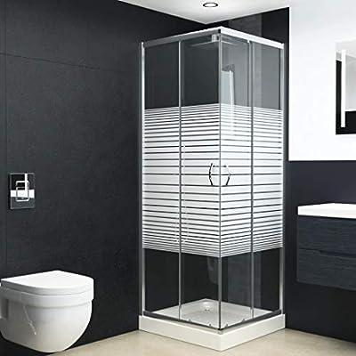 vidaXL Mampara de Ducha con Vidrio de Seguridad Baño Fregadero ...