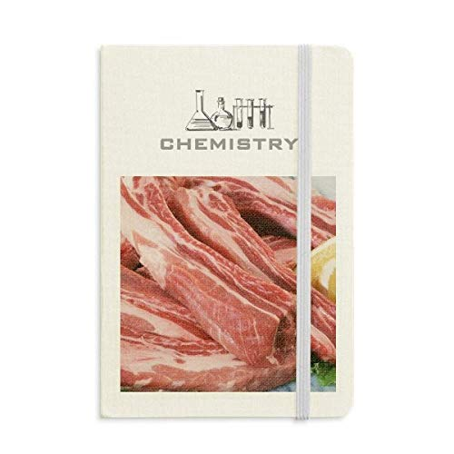 - Rib Chop Raw Meat Food Texture Chemistry Notebook Classic Journal Diary A5