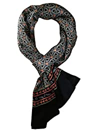 YSSP, pañuelo de seda pura para hombre de 183 x 28 cm